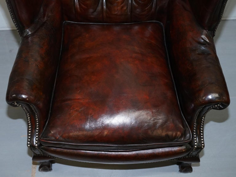 Made In England Chesterfield Leather Wingback Claw And