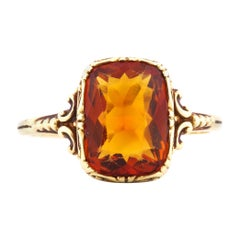 Madeira Citrine Ring From 19th Century Europe Originally for a Man