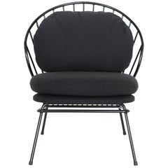 Madeleine Contemporary Armchair, Brazilian Design in Carbon Steel