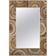 Madeline Mirror in Light Brown Glass by CuratedKravet