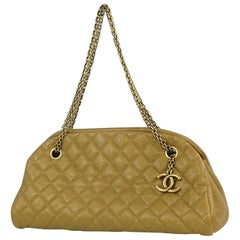 Mademoiselle  Bowling  Womens  shoulder bag  gold x gold hardware Leather