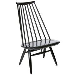 Mademoiselle Lounge Chair in Black by Ilmari Tapiovaara & Artek