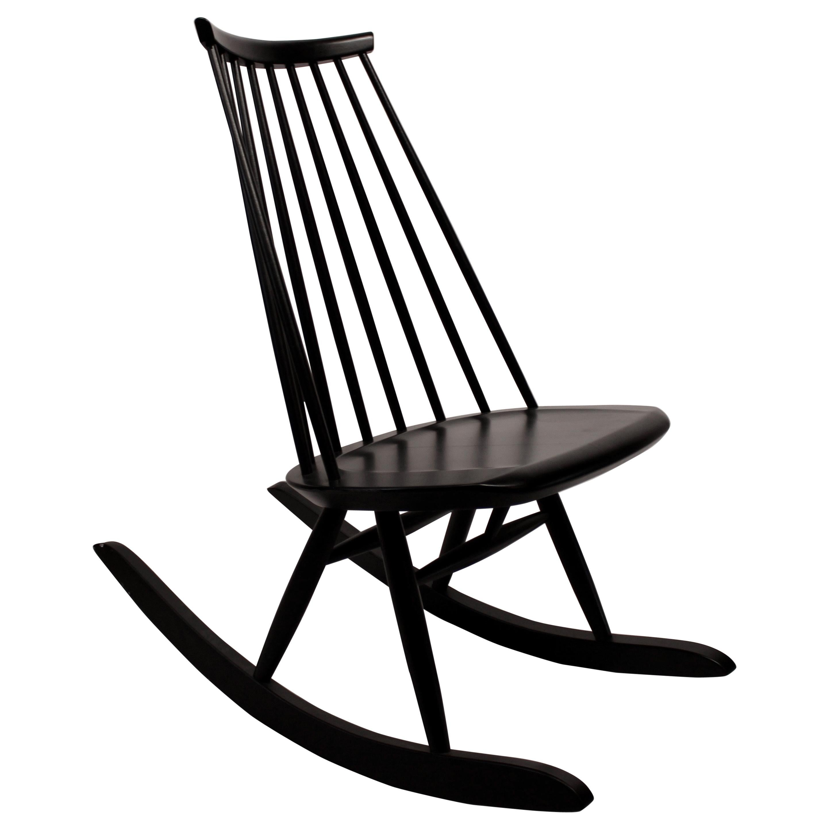 Mademoiselle Rocking Chair Designed by Ilmari Tapiovaara in 1956 for Artek