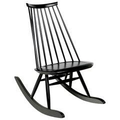 Mademoiselle Rocking Chair in Black by Ilmari Tapiovaara & Artek