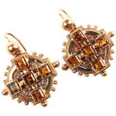 Madera Citrine Earrings Victorian Revival