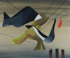 1940s modernist painting by British-American artist Madge Knight