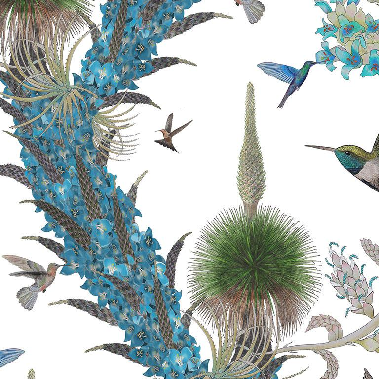 The Madidi Hummingbirds design is a tribute to the incredible diversity of Andean hummingbirds, of which there are 140 different species. This design features Andean Hillstars, Great Sapphirewings, and Giant Hummingbirds. These super-heroic little