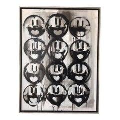 Madison Faile 12 Faces Contemporary Artwork Acrylic on Canvas