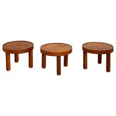 Mado Jolain and Rene Legrand, Set of 3 Tables