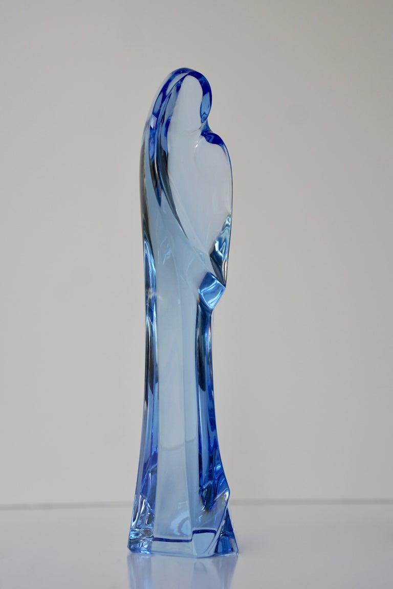 Rare sapphire blue crystal Madonna. This