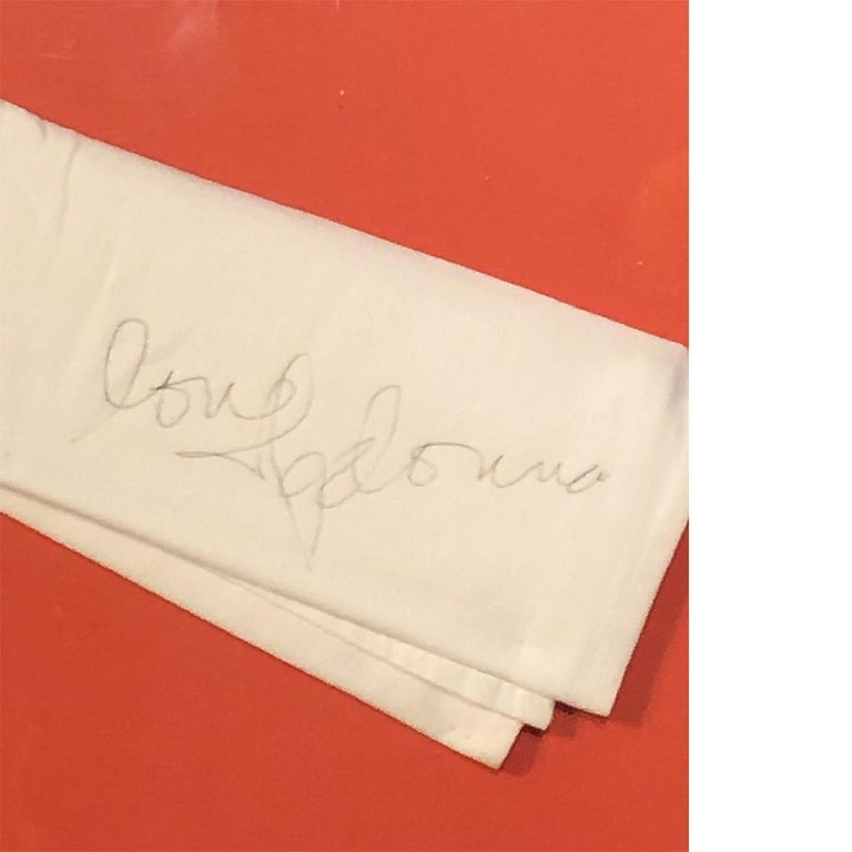 Other Madonna Autographed Napkin Authentic For Sale