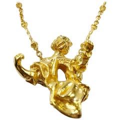 """""""Madonna de Port Lligat"""" Pendentif Necklace Solid 18k Gold by Salvador Dalí"""