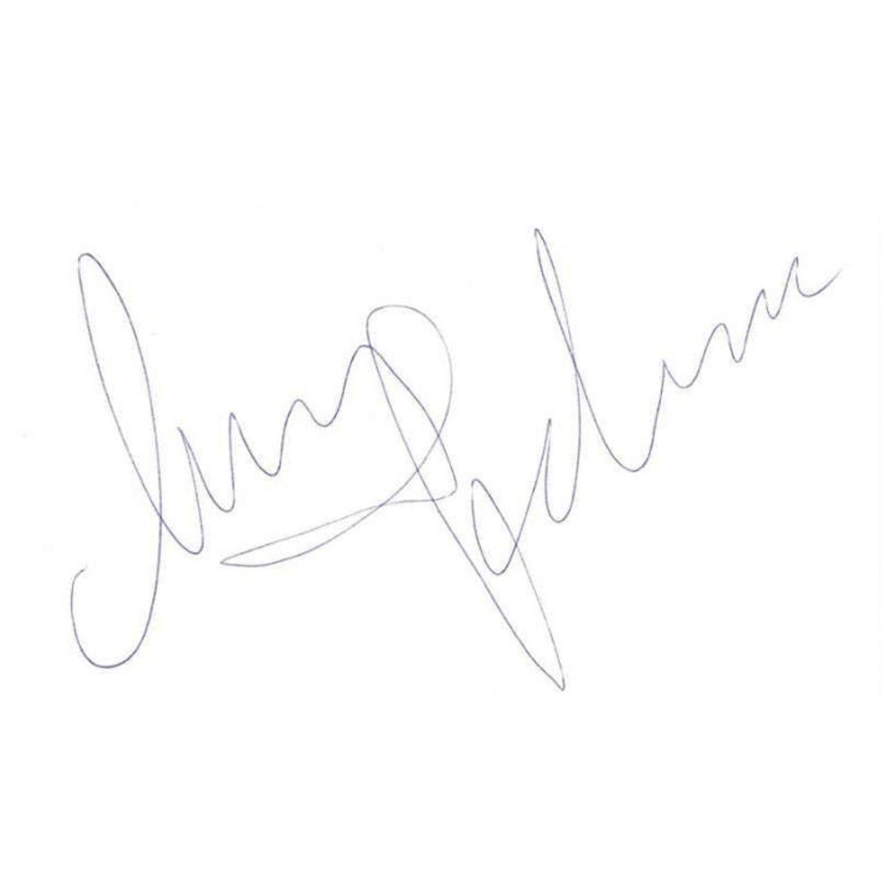 Madonna Original Autograph in Blue Ink on Paper
