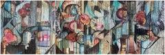 """12"""" Secret Garden Triptych"""