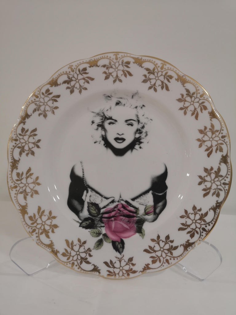 Madonna side plate In New Condition For Sale In Capri, IT