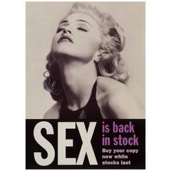 """Madonna """"Sex"""" Original Vintage Promotional Poster, British, 1992"""