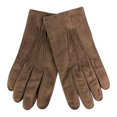 MADOVA Size 9 1/2 Brown Suede Gloves