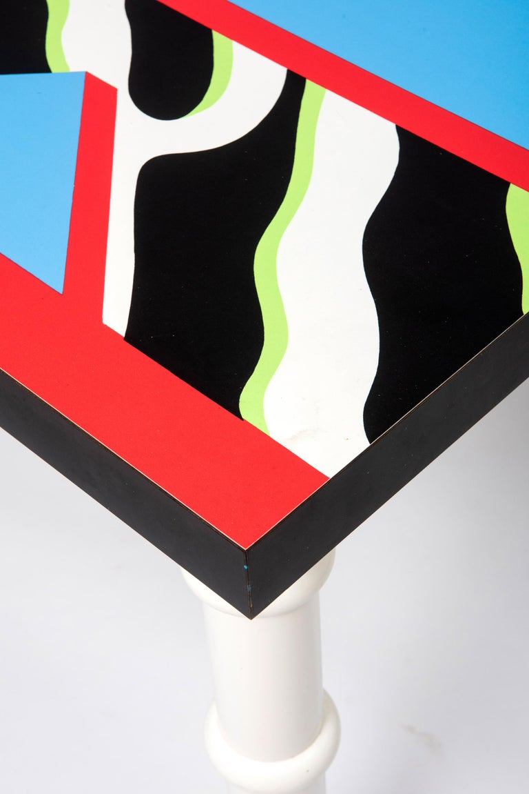 """Italian Table """"Madras"""" by Nathalie du Pasquier for Memphis, Italy, circa 1986 For Sale"""