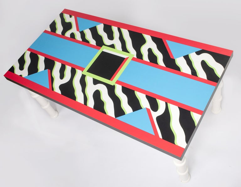 """Table """"Madras"""" by Nathalie du Pasquier for Memphis, Italy, circa 1986 In Good Condition For Sale In Macclesfield, Cheshire"""