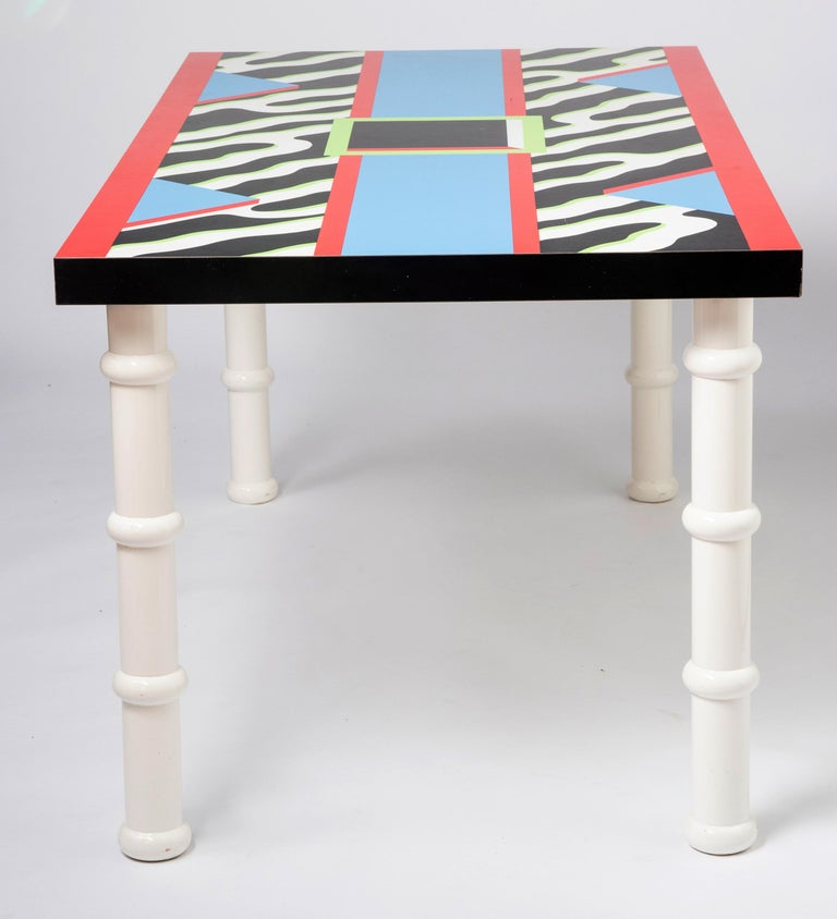 """Late 20th Century Table """"Madras"""" by Nathalie du Pasquier for Memphis, Italy, circa 1986 For Sale"""