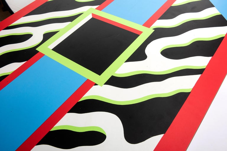 """Plywood Table """"Madras"""" by Nathalie du Pasquier for Memphis, Italy, circa 1986 For Sale"""