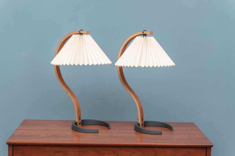 Mads Caprani table lamps, Model 841 Denmark. Very good original condition.