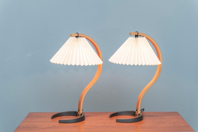 Teak Mads Caprani Table Lamps, Model 841