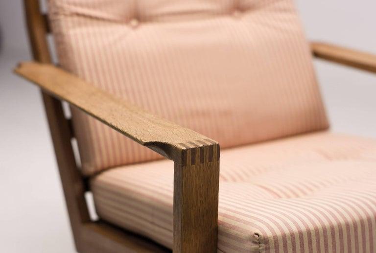 Scandinavian Modern Madsen and Schubel Oak Lounge Chair For Sale