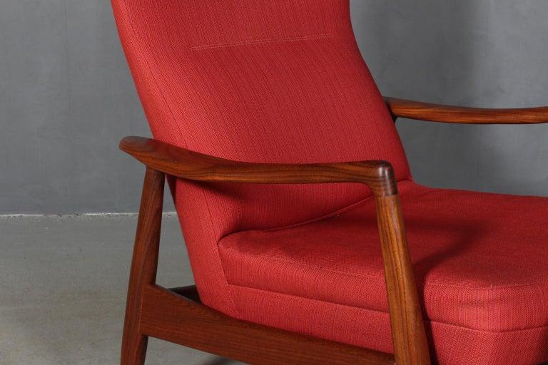 Scandinavian Modern Madsen & Schubell Lounge Chair with Ottoman For Sale