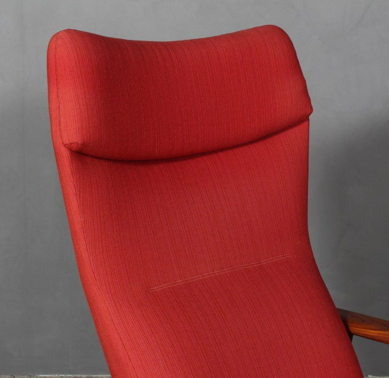 Danish Madsen & Schubell Lounge Chair with Ottoman For Sale