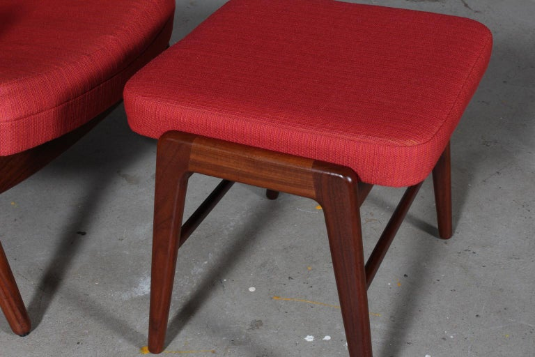Madsen & Schubell Lounge Chair with Ottoman In Good Condition For Sale In Esbjerg, DK