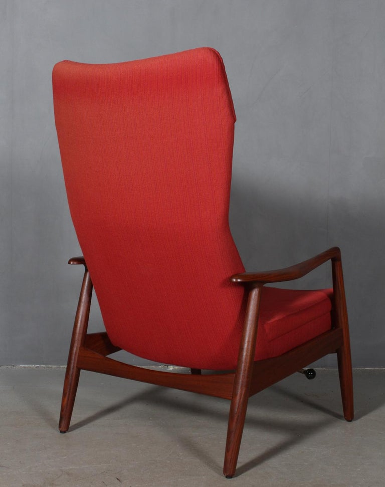Wool Madsen & Schubell Lounge Chair with Ottoman For Sale