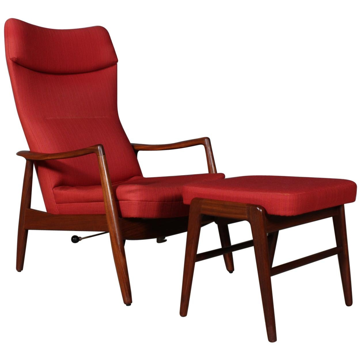 Madsen & Schubell Lounge Chair with Ottoman