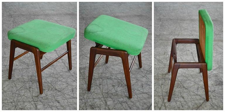 Madsen & Schubell Reclining Teak Lounge Chair with Ottoman, Denmark, circa 1960 For Sale 6