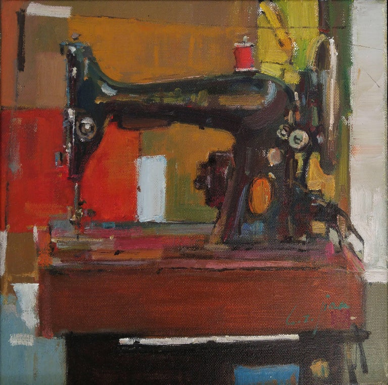 The art of nostalgia series #2 Sewing Machine - Painting by MAE Curates