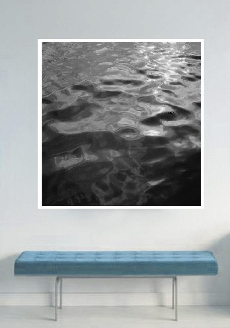 Black and white contemporary photo on Water, Ocean - silver gelatin print n. 2C For Sale 2