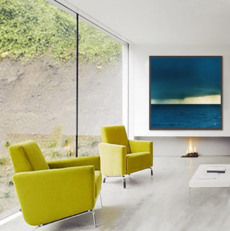 Photograph - Atlantic Ocean series - #1 - Ocean, Water, Landscape, Nature - Blue Landscape Photograph by MAE Curates