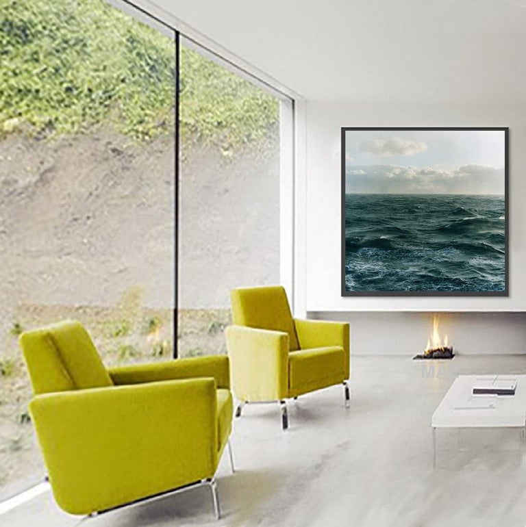 The Atlantic Ocean series places a little contextual history of this scenic image with its maritime history at that spot with the interplay of the elements - wind, clouds, water - on that particular day more than a century later. Insignificance of