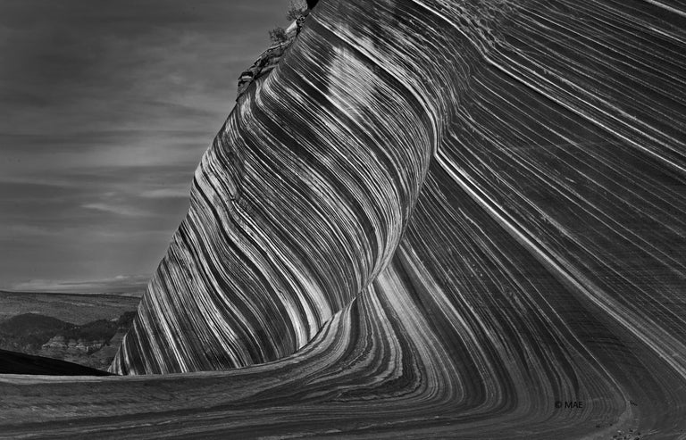 MAE Curates Black and White Photograph - Photography of American landscape series - The Wave, Paria Canyon, Arizona n.2