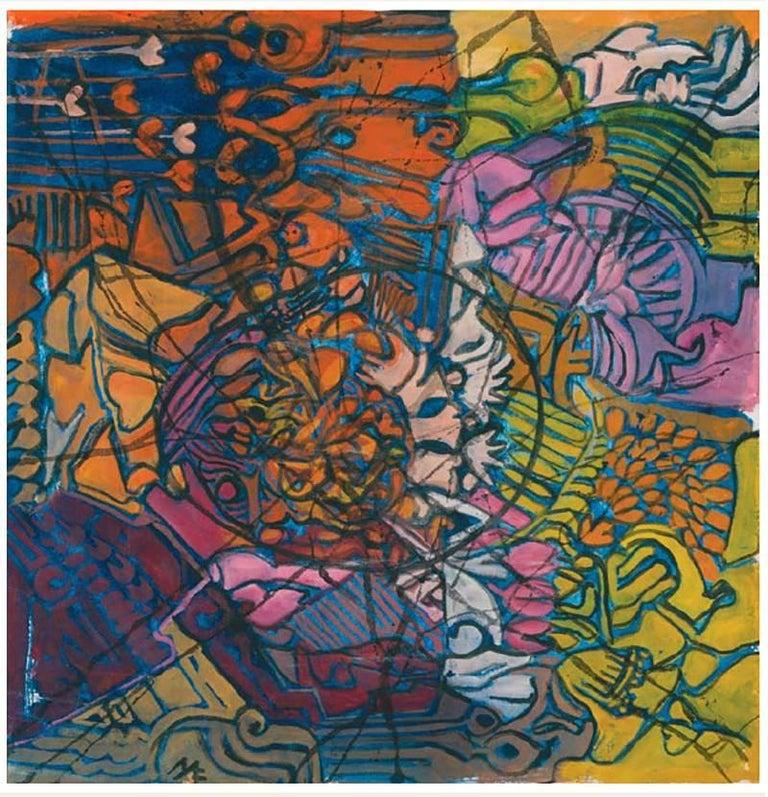 Mae Engron Untitled Landscape Series Purple Painting