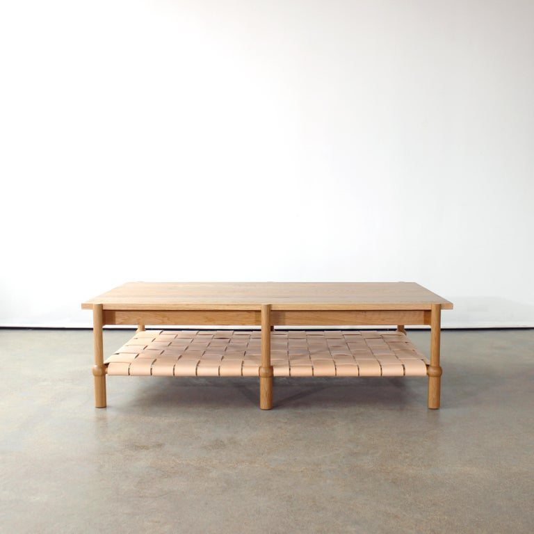 Modern Mae Solid Wood Coffee Table by Crump and Kwash For Sale