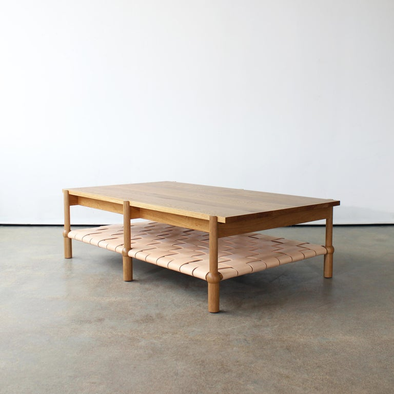 North American Mae Solid Wood Coffee Table by Crump and Kwash For Sale