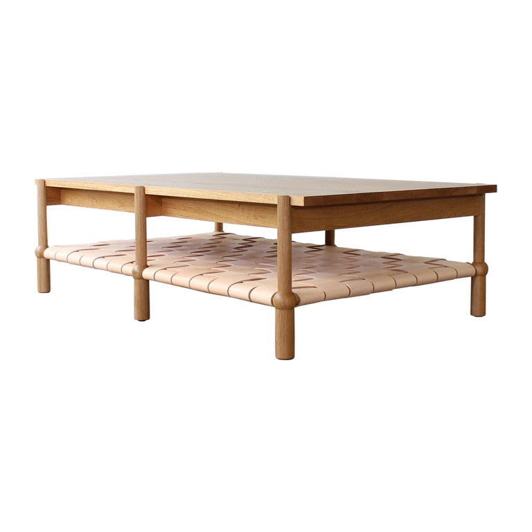 Mae Solid Wood Coffee Table by Crump and Kwash For Sale