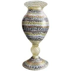Maestro Imperio Rossi, Vintage Murano Millefiori Art Glass Vase, 20th Century
