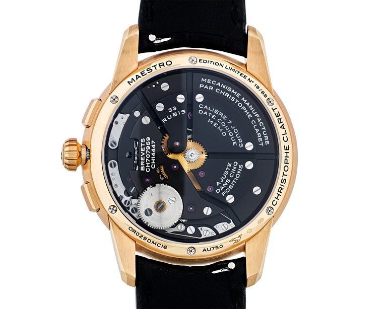 Round Cut Maestro Limited Edition Watch by Christophe Claret For Sale