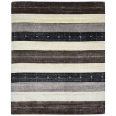 Maeve, Contemporary Gabbeh Handwoven Area Rug, Hazelnut