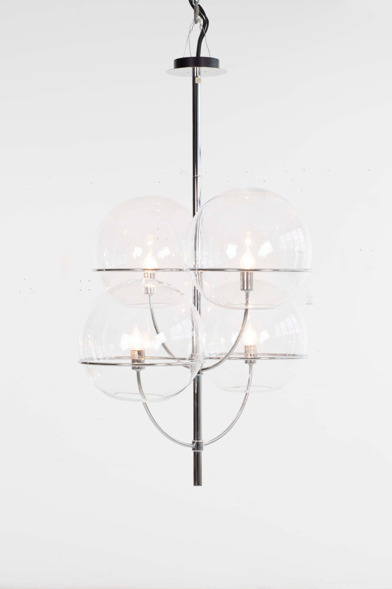 Mid-Century Modern Magastretti Chandelier For Sale