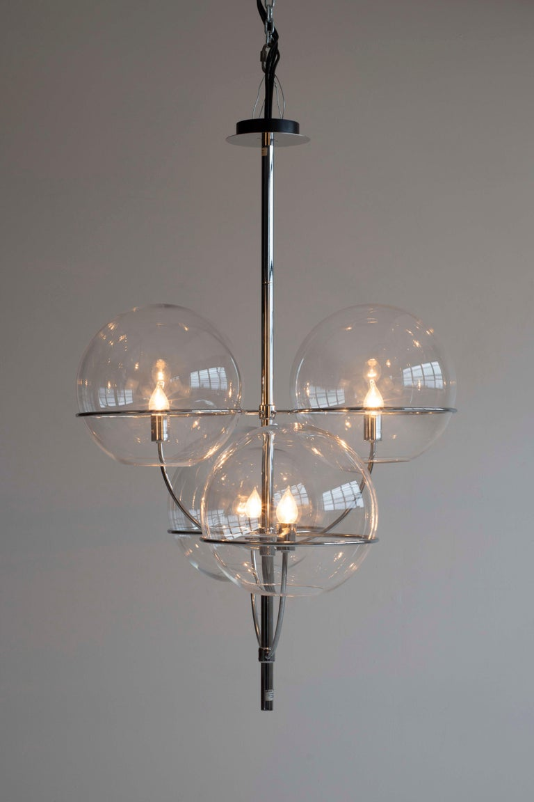 Italian Magastretti Chandelier For Sale