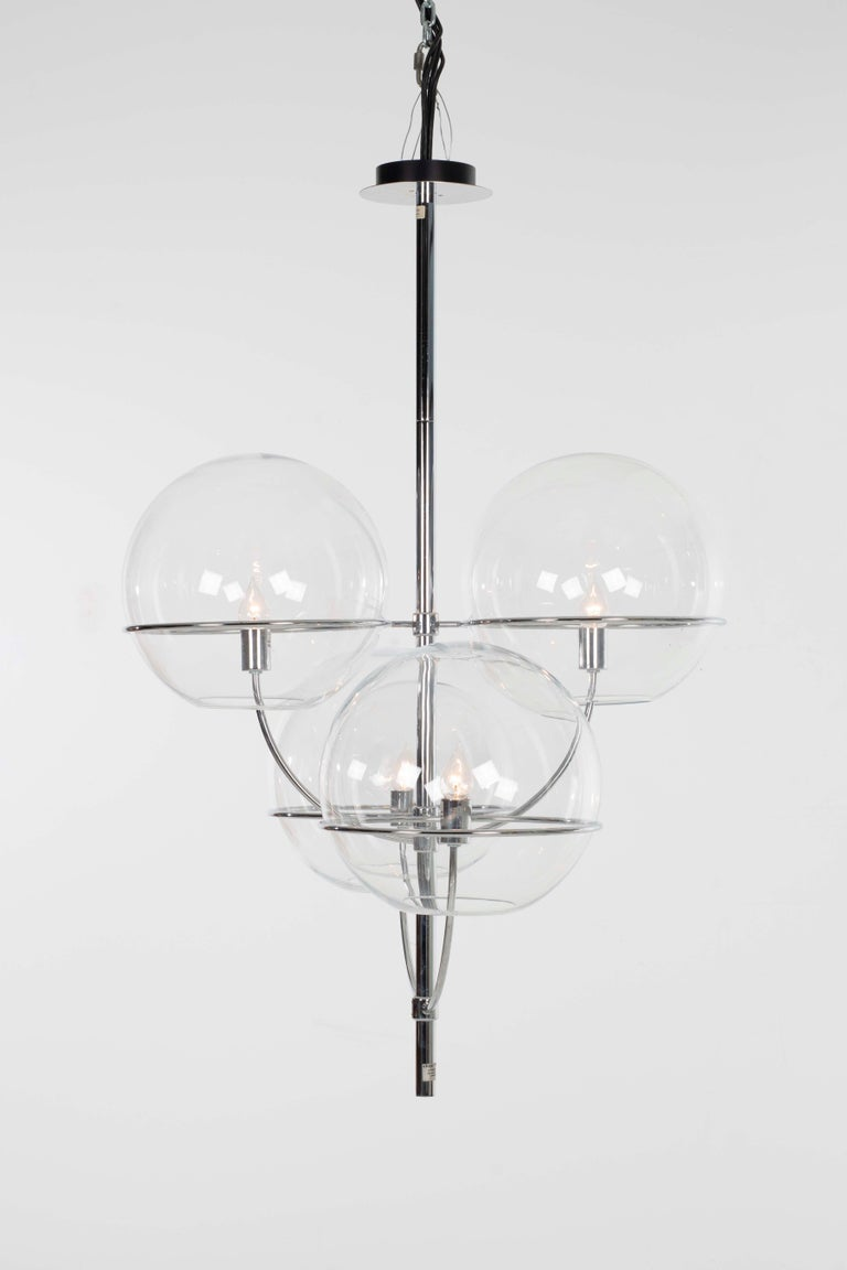 Plated Magastretti Chandelier For Sale