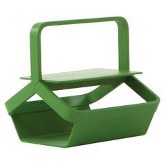 Magazine Green Basket by Enzo Berti